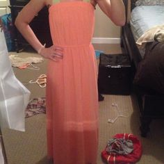 Peach maxi Forever 21! In great condition Forever 21 Dresses