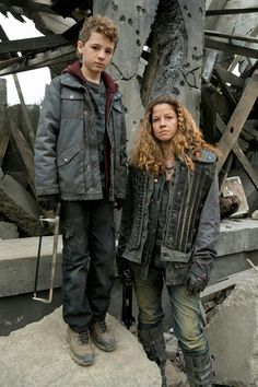 "Maxim Knight as Matt and Luciana Carro as Crazy Lee from the TV Show ""Falling Skies"". We'll miss you!"
