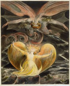 William Blake Great Red Dragon And The Woman Clothed With The Sun Poster