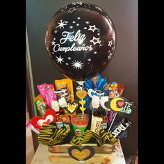 Birthday Basket, Birthday Gifts, Xmas Gifts, Cute Gifts, Chocolate Explosion Cake, Edible Bouquets, Sweet Box, Candy Bouquet, Party Shop