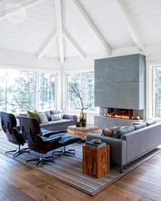 Upper-level family room - House tour: Casual contemporary cottage