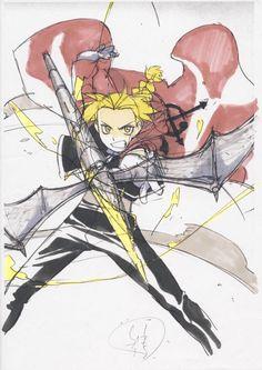 Fullmetal Alchemist Hanken Anime Cel Genga Douga Sketch Concept Art