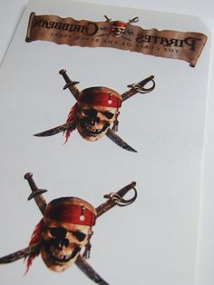 Disney Pirates of the Caribbean Temporary Tattoos by POPWILDLIFE, $10.00
