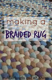rubberboots and elf shoes: a braided rug for a cosy corner