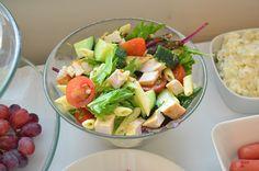 Chicken and feta pasta salad