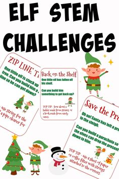Easy ELF STEM Challenges. Fun Christmas STEM Challenges for kids #ChristmasScience #STEMChallenges #ChristmassTEM Stem Science, Science Experiments Kids, Science For Kids, Stem Activities, Activities For Kids, Christmas Activities, Educational Activities, Stem For Kids, Kids Fun