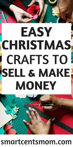 Make money selling easy DIY Christmas crafts at bazaars and craft fairs. These handmade gifts are such cute ideas to sell and make money during the holidays!  via @https://www.pinterest.com/smartcents/