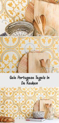 gele portugese tegels in de keuken The Nile Co Egypte ©BintiHome