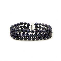 """3-Row Black A Grade 6.5-7.0 mm Freshwater Cultured Pearl Bracelet, 7.5"""" - 3-Row Black A Grade 6.5-7.0 mm Freshwater Cultured Pearl Bracelet, 7.5"""" - Most Appreciated Gift. - Most elegant jewelry boxes with most beautiful presentation. - See """"Special Offers & Product Promotions"""" below for our current coupon offers. Free gift promotions require that the free gift item be added to your cart plus you must apply the coupon code during checkout. - Any questions or request about cultured pearls quality, Pearl Bracelet, Pearl Jewelry, Jewelry Box, Jewelry Necklaces, Bracelets, Cultured Pearls, Metal Stamping, Fresh Water, Free Gifts"""