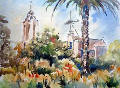 LAURA CLIMENT : junio 2009 Catedral de Terrassa Watercolor Blog, Painting, Art, June, Art Background, Painting Art, Kunst, Paintings, Performing Arts