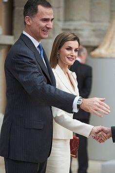 King Felipe VI of Spain and Queen Letizia of Spain visit the El Prado Museum on February,16, 2016 in Madrid, Spain.