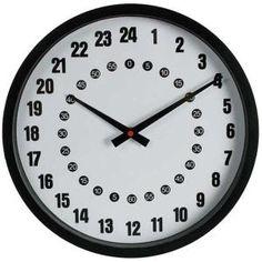 L'horloge 24 heures