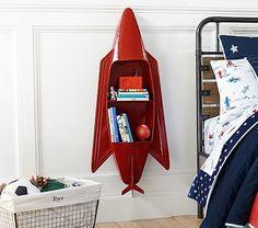Jumbo Rocket Shelf -- so cool for Sam's room!