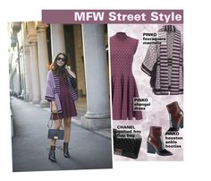 """""""MFW Street Style"""" by federica-m ❤ liked on Polyvore featuring moda e Chanel"""