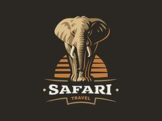 follow me instagram | behance African Logo, African Art, Elephant Logo, Elephant Design, Logo Animal, Vintage Safari, Retro Vintage, Graphisches Design, Mascot Design