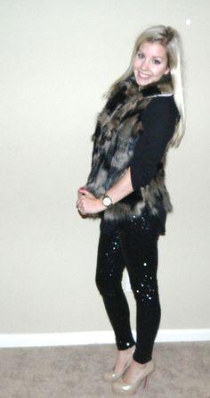 Faux Fur Vest!! Sequin Leggings!!! www.facebook.com/VogeSA