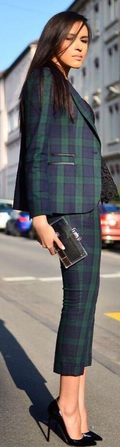 FASHION FIX: Power Suits! A plaid on plaid suit is perfect for fall and winter.