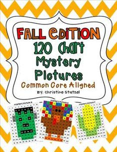 Fall Edition: 120 Chart Mystery Pictures {Common Core Aligned} $5.00