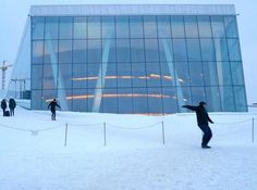 Frank Gehry's Advanced Studio on Snohetta's Oslo Opera House