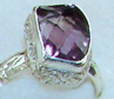 Purple Amethyst Sterling Silver Ring Women's Jewelry, Womens Jewelry Rings, Purple Amethyst, Sterling Silver Rings, Heart Ring, Engagement Rings, Enagement Rings, Wedding Rings, Heart Rings