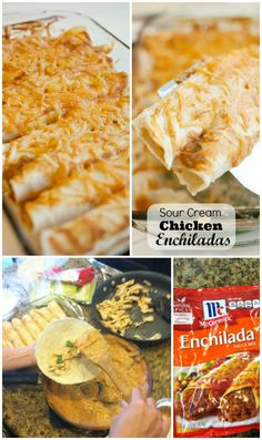 Sour Cream Chicken Enchiladas for a quick and easy family dinner recipe KristenDuke.com