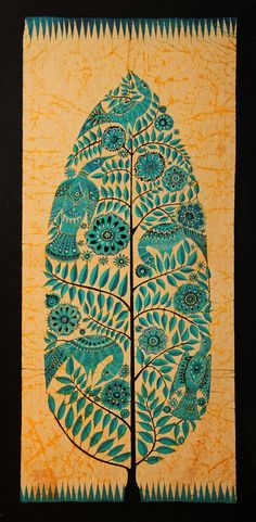 so organic => Bali (Indonesia) - Batik dell'Albero della vita (scan from diapo) Batik Art, Batik Prints, Motif Vintage, Indonesian Art, Art Premier, Batik Pattern, Indian Folk Art, Madhubani Painting, Tribal Art