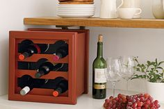 Make a countertop wine rack from a planter box in less than time than it takes to cook up a meal!   Photo: John Gruen   thisoldhouse.com   f