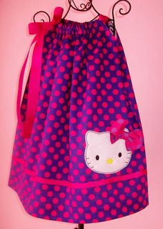 Hello Kitty Pillowcase Dress, I am going to make this for ELizabeth