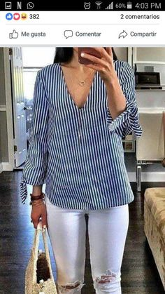 Blouse And Skirt, Maxi Dress With Sleeves, Casual Outfits, Cute Outfits, Fashion Outfits, Blouse Styles, Blouse Designs, Black And White Love, Western Wear