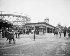 Roller Coaster Euclid Beach Cleveland Ohio Vintage 8x10 Reprint Of Old Photo
