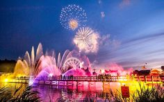 Fireworks light up the night sky during the 3rd day of the Tomorrowland festival in Boom, Belgium.Picture: JONAS ROOSENS/AFP