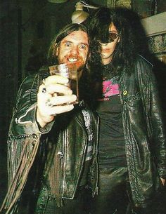 """fuckyeahmotorhead: """" Lemmy and Joey are rocking together again :) """""""