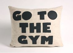 DIY Go to the Gym Pillow | Her Campus