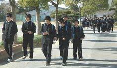 School Uniforms for Japanese children - I was really surprised to see nearly all elementary and high school students wearing standard uniforms to school, and often after school. I often see groups of them in the same uniforms on the trains. Each school has a different uniform, so you can often tell which high school a student attends just by his uniform. They seem quite proud of them and take good care of them. I have never seen one tattered or stained.