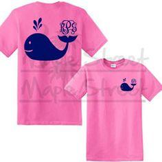 Whale Monogram T' Shirt