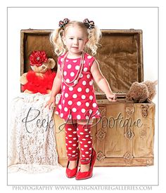 Red and White Polkadot Leg Warmers-