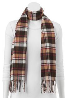Softer Than Cashmere? Plaid Oblong Scarf ($8)