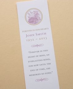 Catholic themed Memorial Bookmarks : Vision Bookmark Template ...
