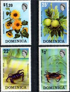 Dominica 1973 Flora and Fauna Set Fine Mint SG 389 92 Scott 368 71 Condition Fine MNH Only one post charge applied on multipule purchases Details