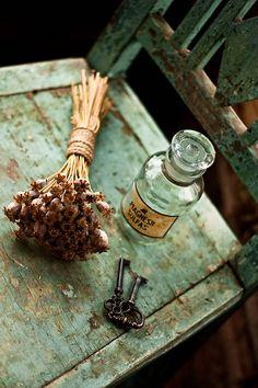 dried flowers + keys.