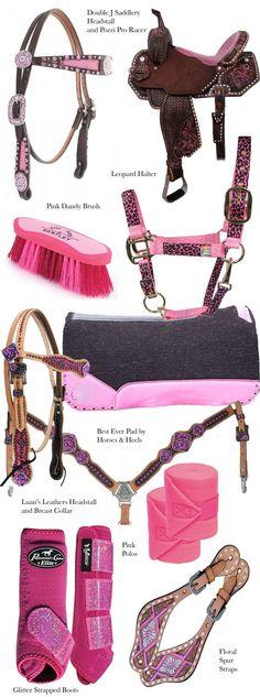 Pink Tack for the Barrel Racer   Horses & Heels