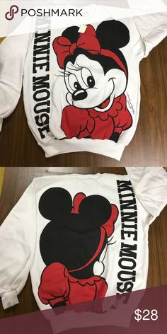 Americanwear Minnie Mouse sweatshirt NWT American wear Minnie mouse sweatshirt. Big graphic on the front and the back of the sweatshirt. NWT Americanwear Tops Sweatshirts & Hoodies