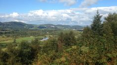 View towards Dalbeattie from viewpoint in Dalbeattie woods. Dumfries and Galloway. Sept 2015. B.