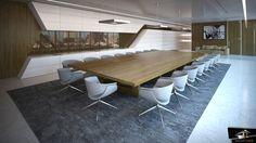 Sala de reuniones Diseñado Grupoias Office Meeting, Meeting Table, Loft Interiors, Office Interiors, Cool Office, Office Decor, Vr Room, Conference Room Design, Luxury Office