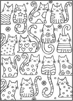 고양이 컬러링북 도안/ 색칠공부 프린트해서 사용하세요~