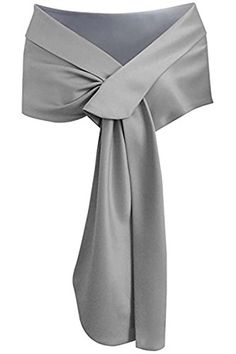 Meet Edge Women's Satin Shawl Wrap For Evening/Wedding Party Silver, Silver Gray, Mother Of Bride Outfits, Mother Of Groom Dresses, Evening Shawls And Wraps, Dress With Shawl, Bridal Shawl, Mob Dresses, Lightweight Scarf, Long Scarf, Scarf Styles