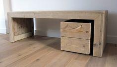 Kindertafel plus speelgoedkist op zwenkwielen | Steigerhout | Te koop bij w00tdesign | Flickr - Photo Sharing!