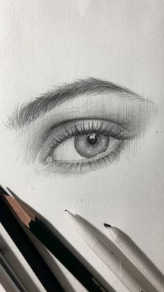 One example how I draw an eye. Pencil Art Drawings, Art Drawings Sketches, Cool Drawings, Eye Drawings, Pencil Sketching, Sketches Of Eyes, Drawings Of Hands, Eye Pencil Drawing, Unique Drawings