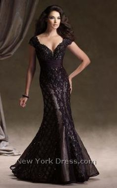 cap sleeves sweetheart neckline mermaid cut dress.. the color is like a plum.. very pretty in the photo. not sure how it will look in person.. hopefully beautiful for $898.. Mon Cheri 113D05 - NewYorkDress.com