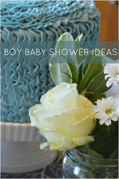 Boy Baby Shower Cake Idea www.spaceshipsandlaserbeams.com
